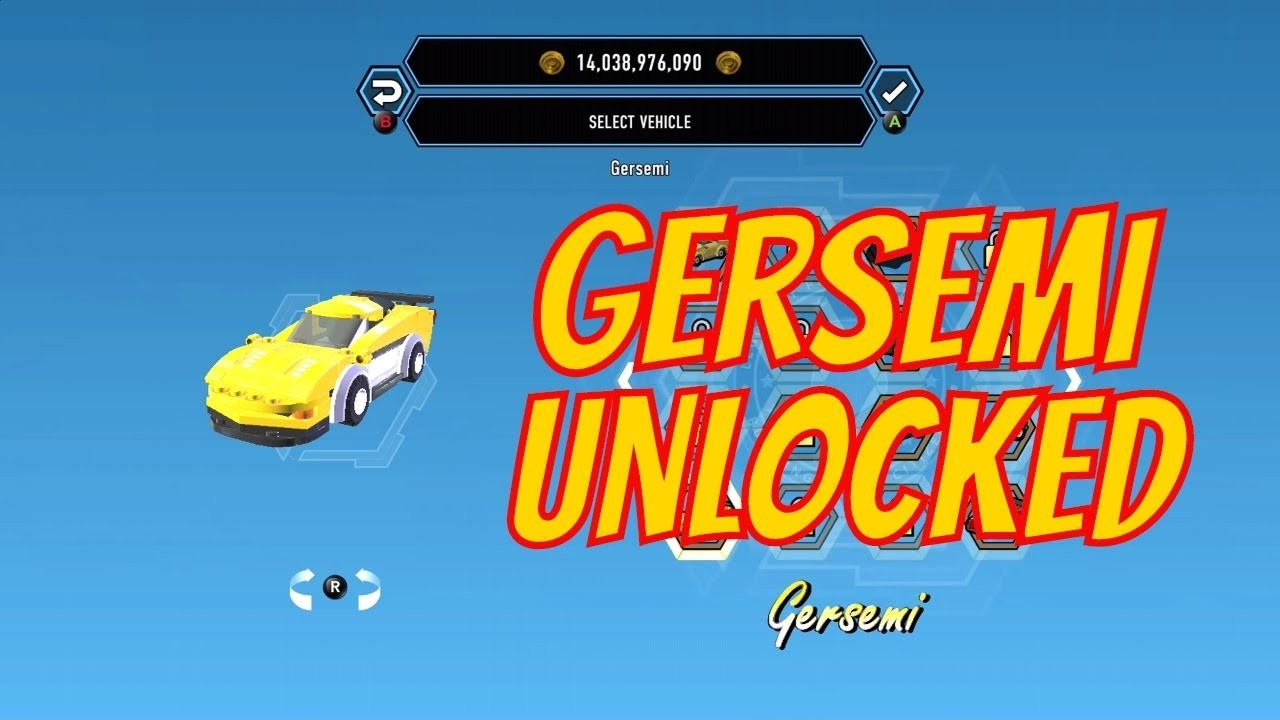 Lego City Undercover Remastered Gersemi (Performance Vehicle) Unlock  Lego Star Wars Lego City Cheats