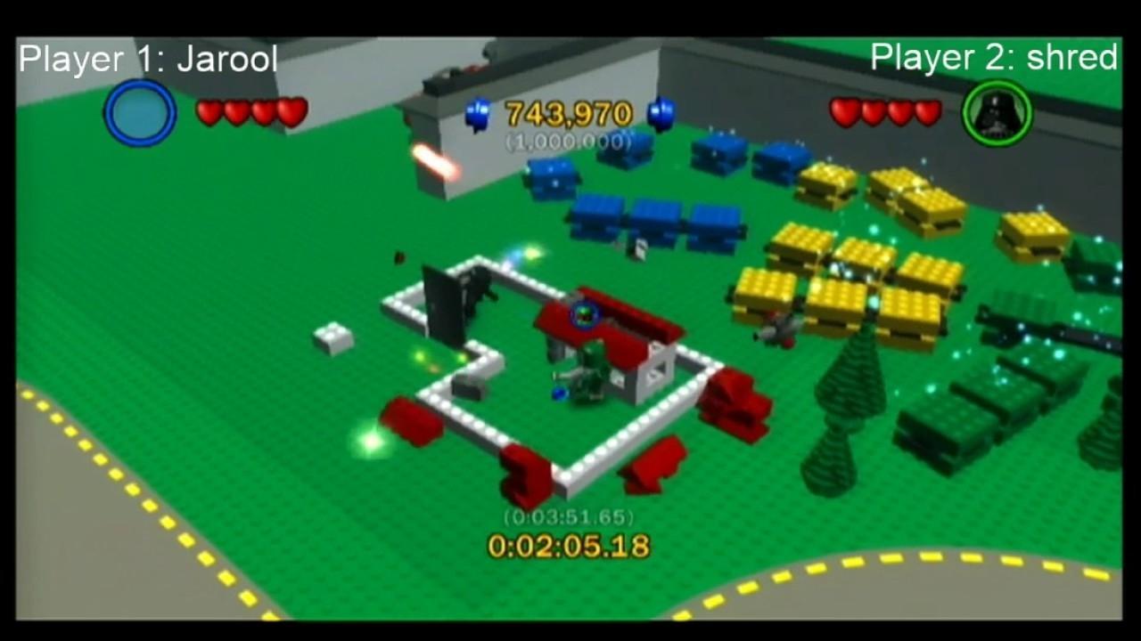 Lego Star Wars: The Complete Saga Lego City Co-Op Speedrun (3:30.54  Lego Star Wars Lego City Cheats
