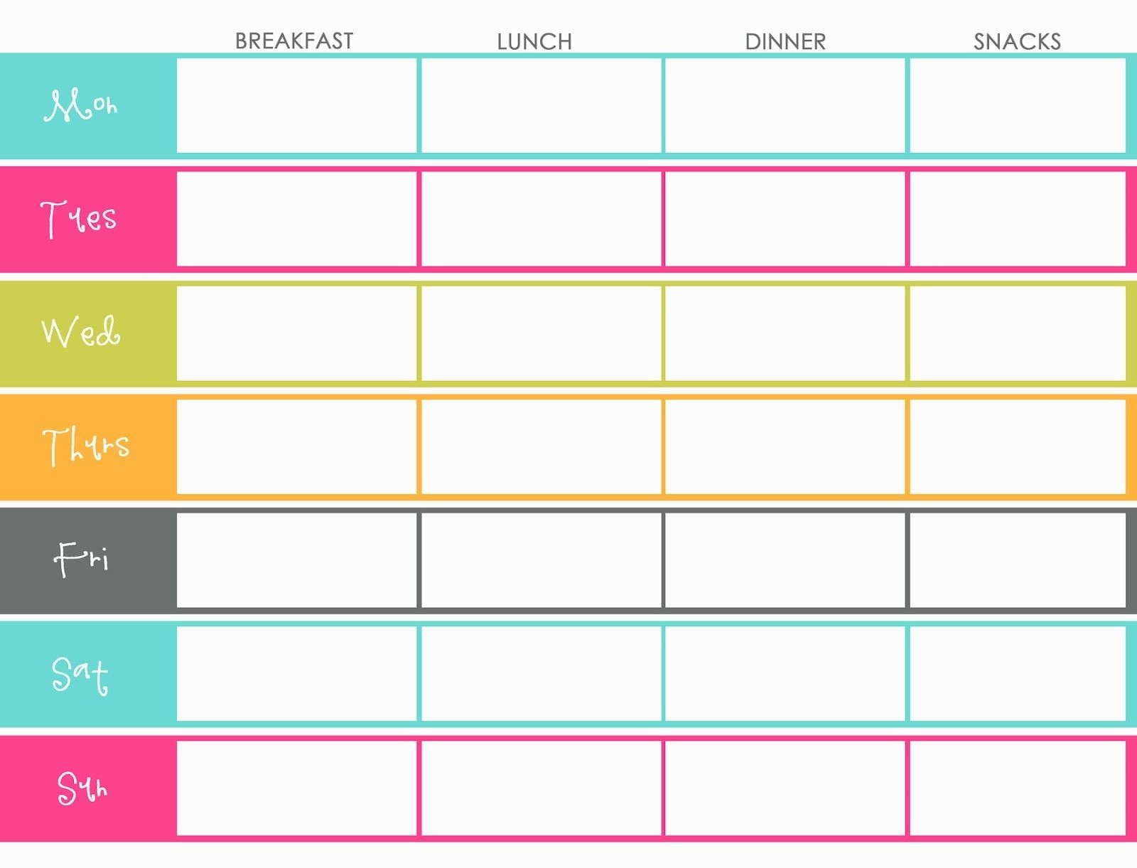 Little Housewife: Hints And Tips - Meal Planning … | Meal Planning  Calendar Weekly Menu Print Outs