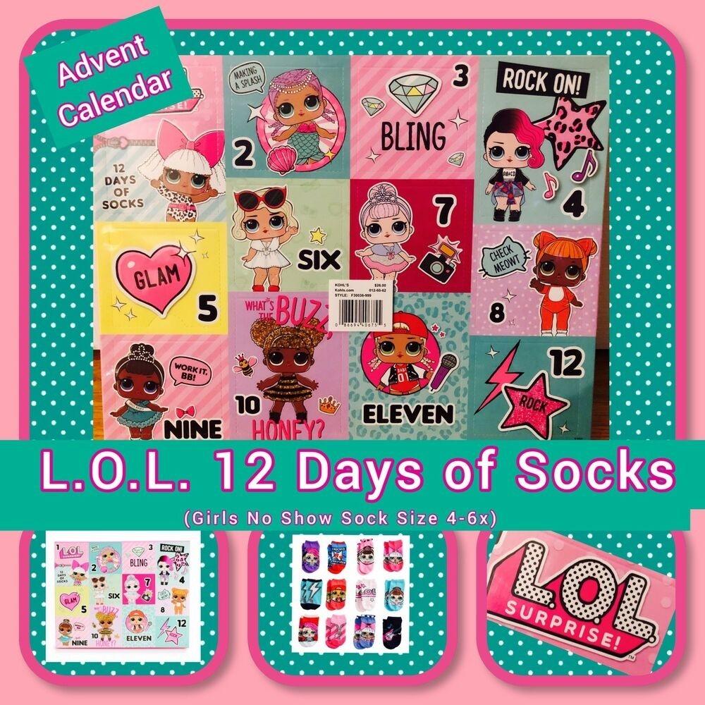 Lol, 12 Days Of Socks, Advent Calendar, Girls, Bnib, Fast Shipping  Girls Advent Calendar With Gifts