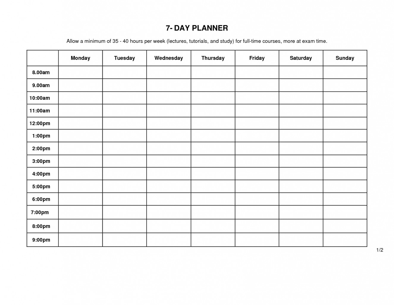 Monday Through Friday Schedule Template Calendar To Business Letters  Calendar Monday Through Friday Schedule