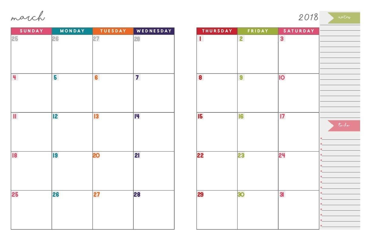 Monthly Planner Template | Monthly Planner Template | Monthly  Free Monthly Calendar Erin Huff
