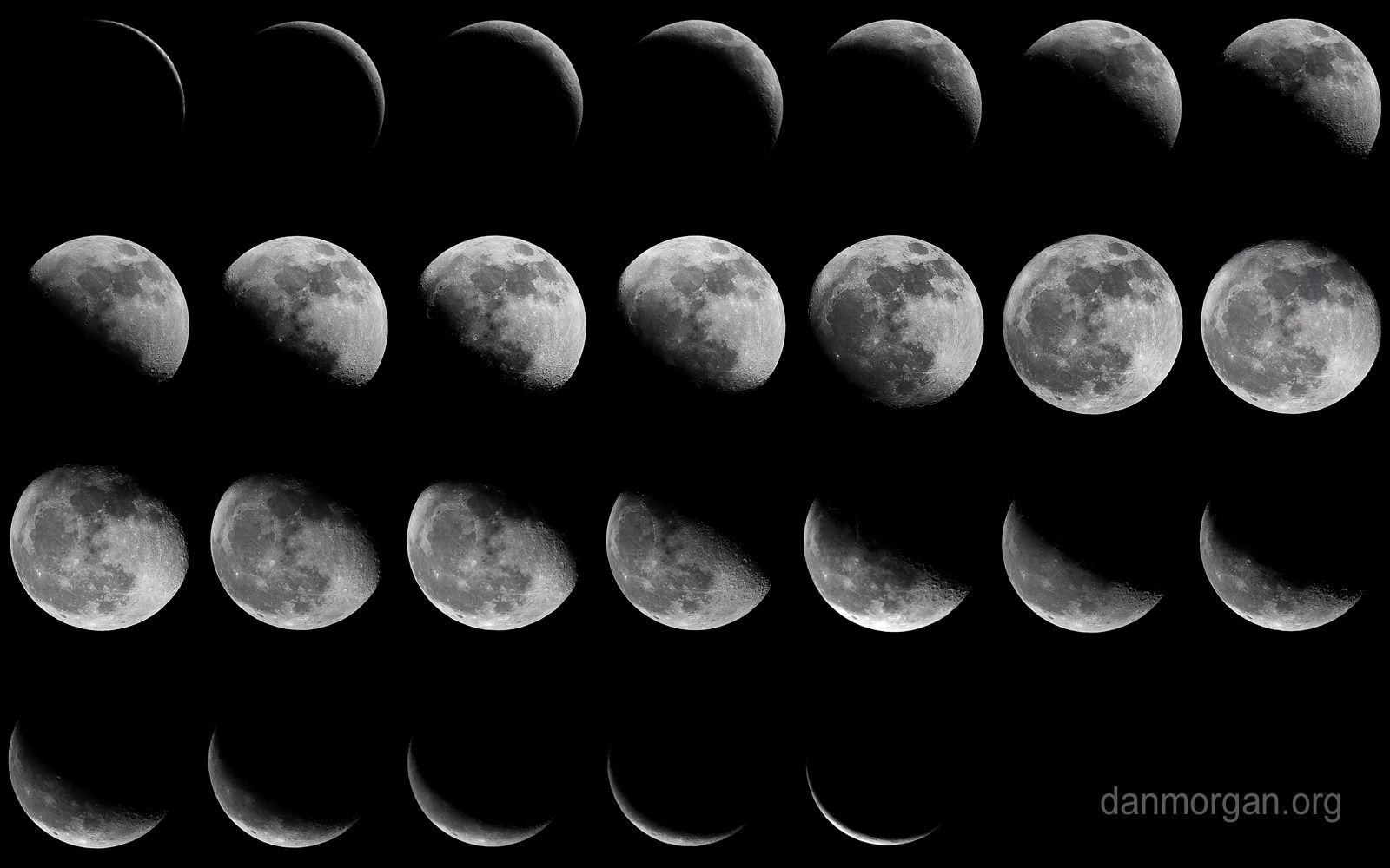 Moon Phases Wallpapers - Top Free Moon Phases Backgrounds  Desktop Calendar With Lunar Cycle