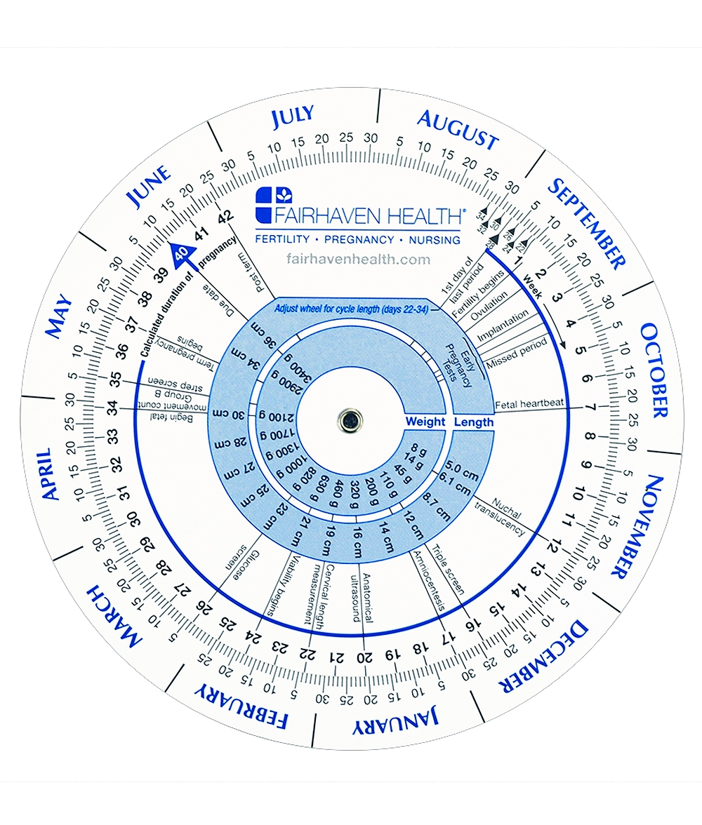 Ovulation And Pregnancy Calendar Wheel  Ptegnancy Calender Day By Day