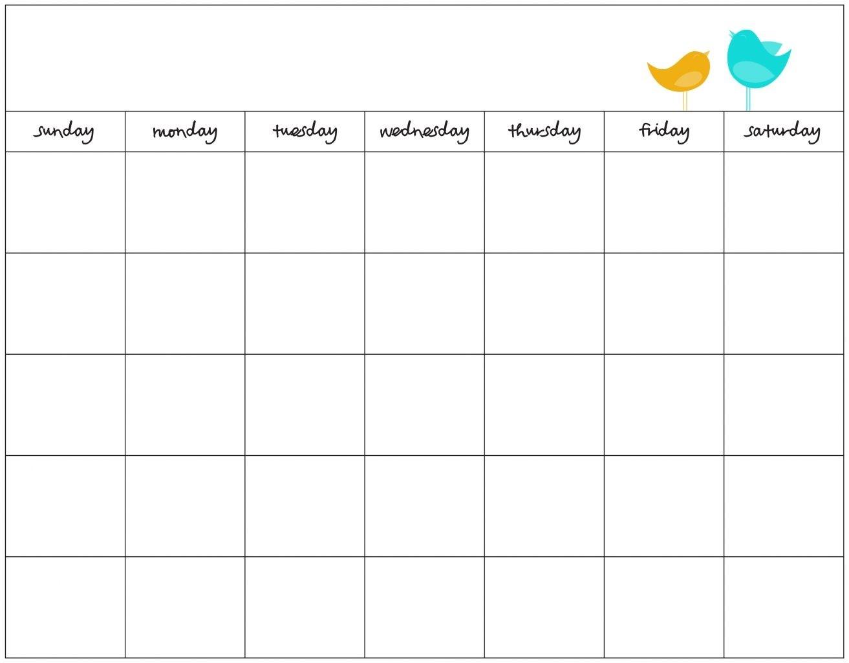 Printable Calendar Template Free Templates Blank Weekly September  Printable Calendar Day By Day