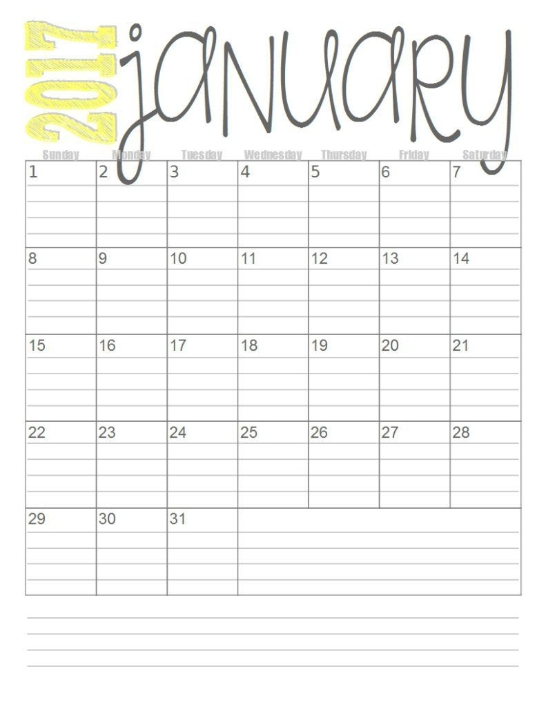Printable Calendar With Lines | Printable Calendar 2019  Printable Monthly Calendar With Lines