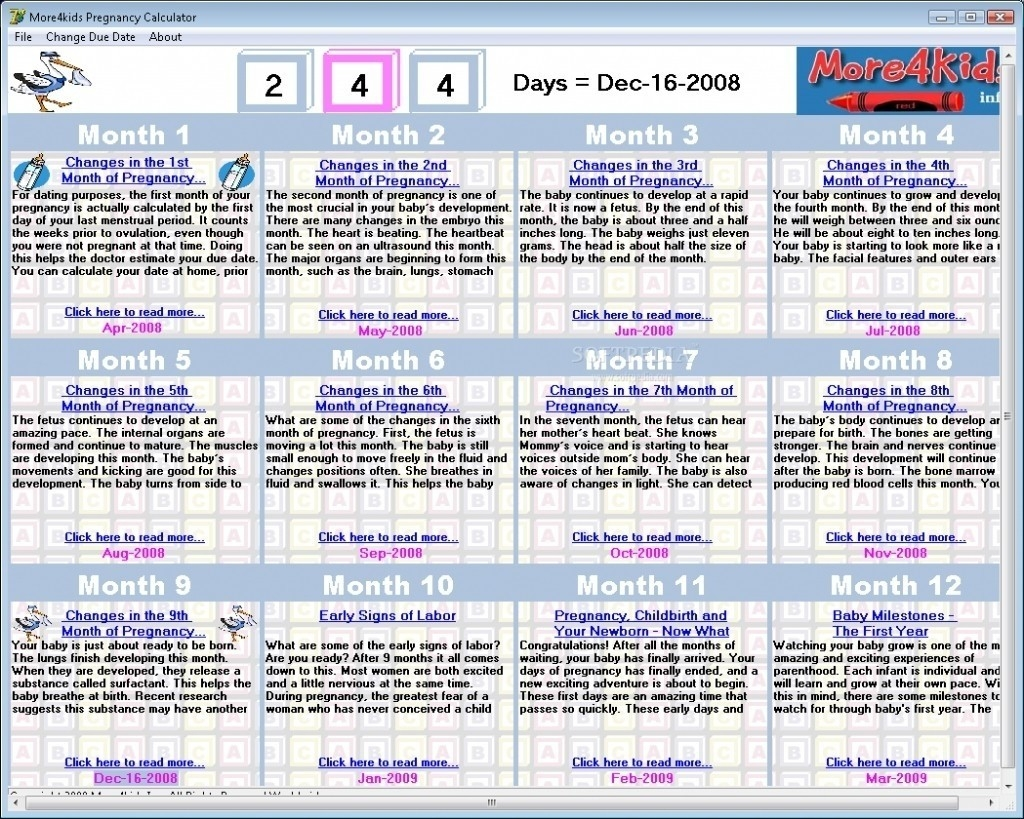 Printable Pregnancy Calendar Dayday Printable Pregnancy Calendar  Ptegnancy Calender Day By Day
