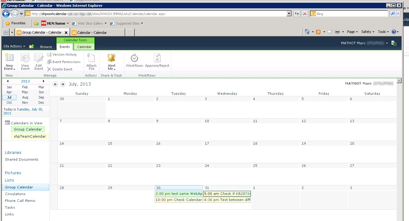 Sharepoint For Dummies: Error 404 With Calendar Overlay Across 2 Web  Sharepoint 2013 Calendar Items Duplicate When Overlay