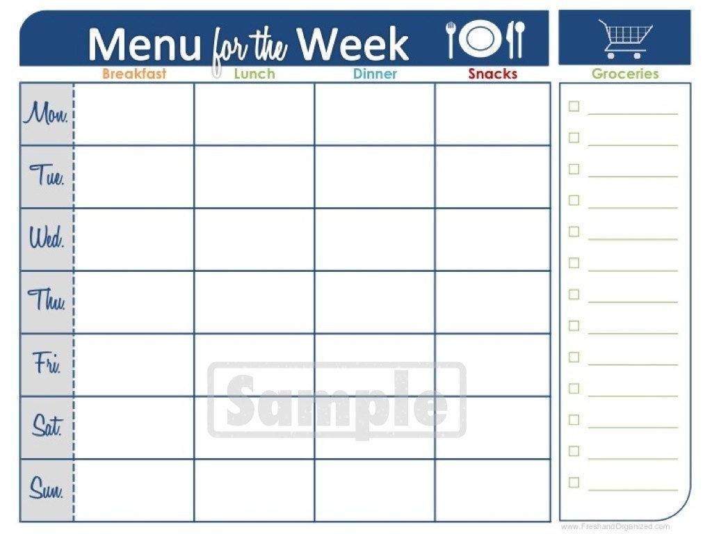 Two Week Printable Calendar | Blank Calendar | Meal Planner  Two Week Blank Calendar Template