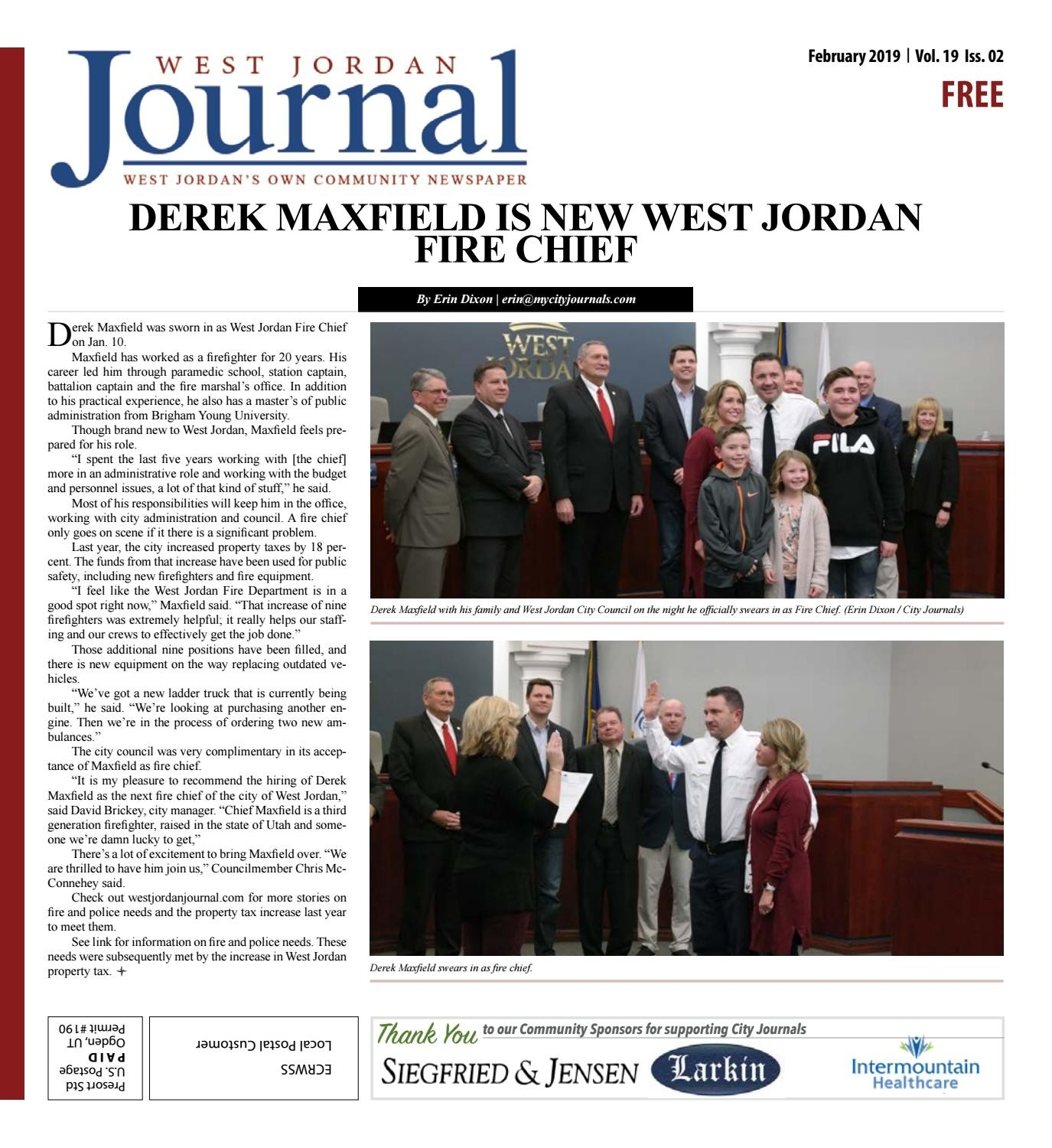 West Jordan Journal February 2019My City Journals - Issuu  Free Monthly Calendar Erin Huff