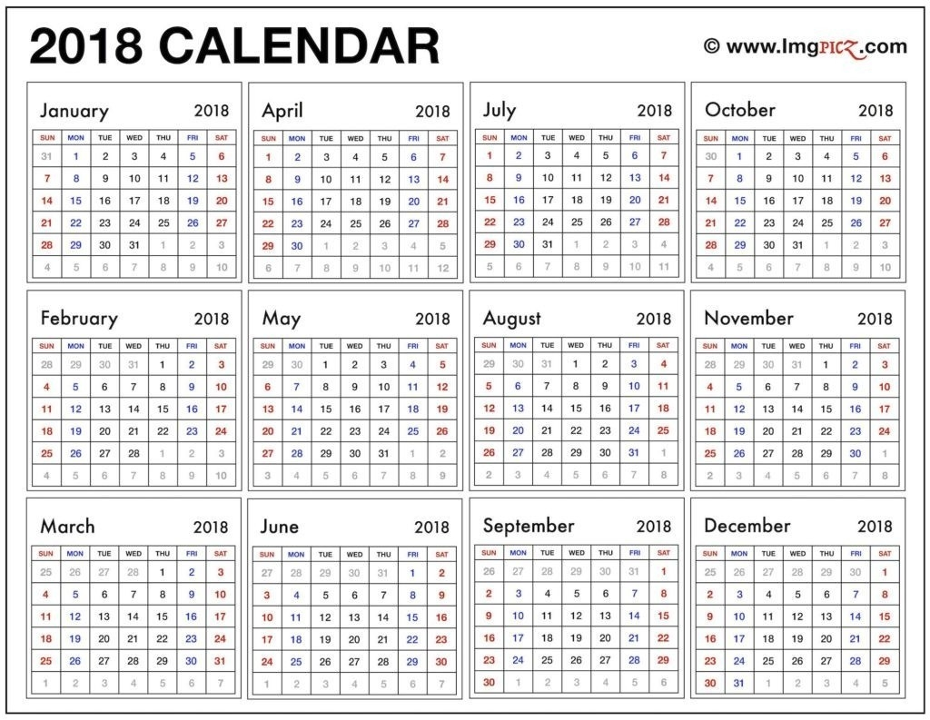 Year At A Glance Calendar Template - Free Calendar Collection  Year At A Glance Calendars Printable