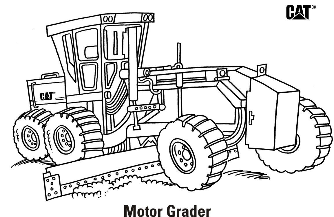 Road Grader Coloring Pages Printable - Printable Coloring Pages  Grade R Cover Page Colouring Page