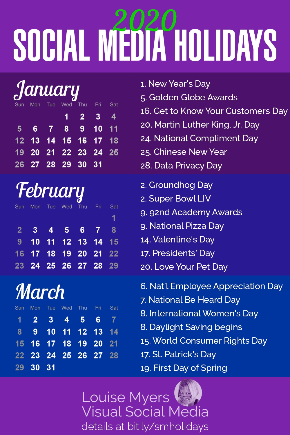 101 Social Media Holidays You Need 2019–20: Indispensable!  2020 Fun National Holiday Calendar