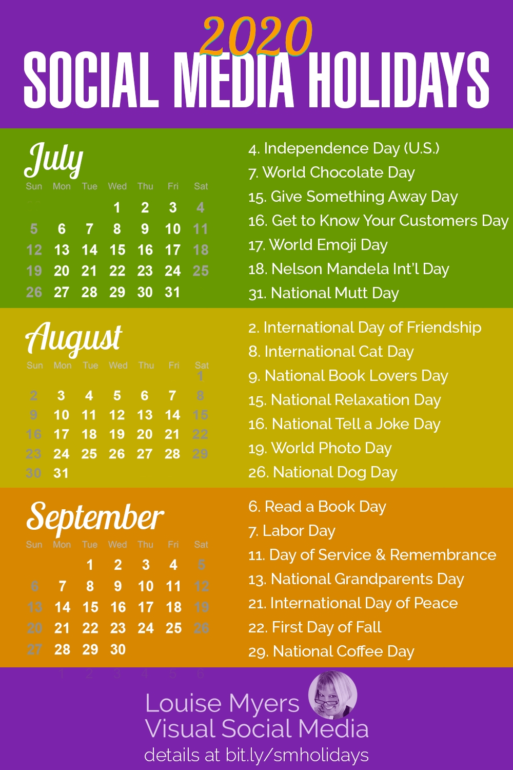 101 Social Media Holidays You Need 2019–20: Indispensable!  National Day Calendar August 2020
