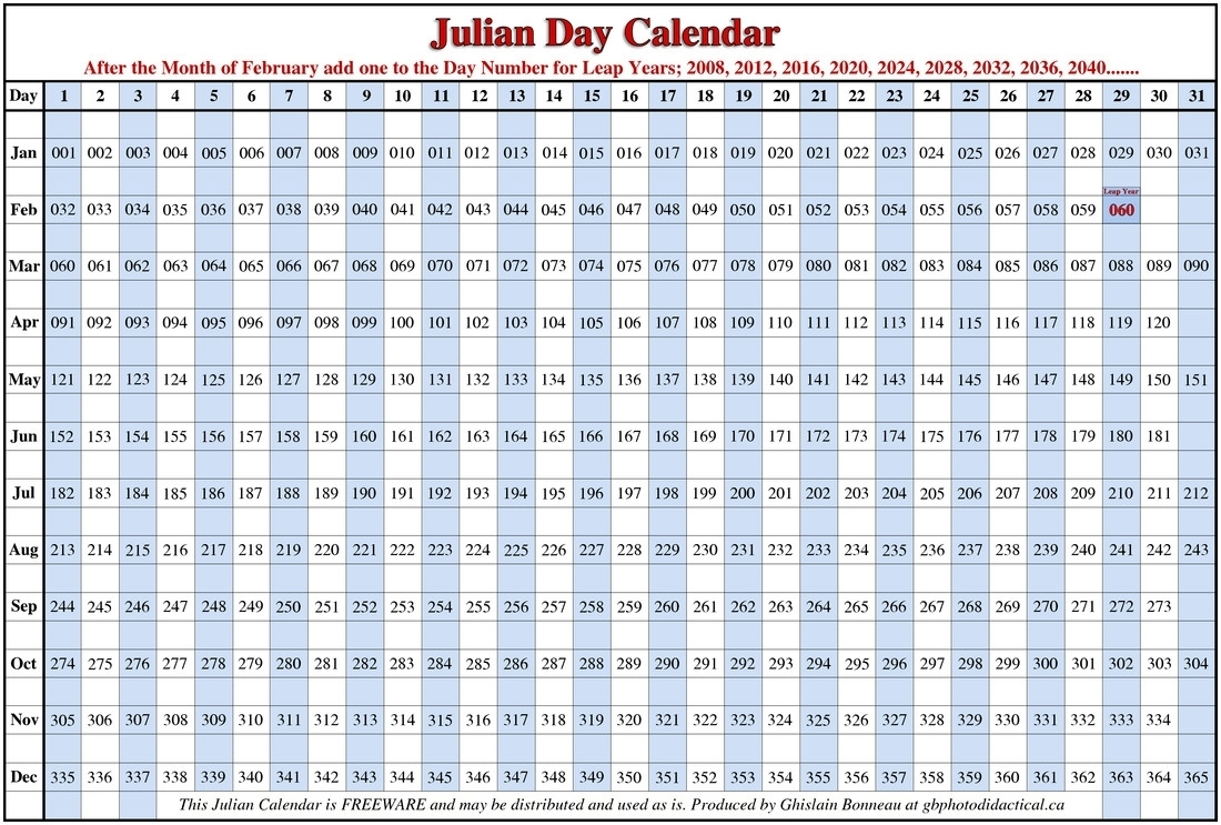 118 Day Of The Year Julian | Calendar Printing Example  365 Day Julian Calendar
