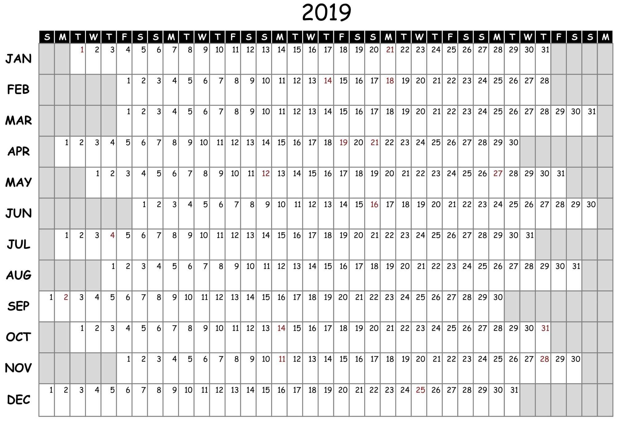 2019 Attendance Calendar Free - Vapha.kaptanband.co  Ppe 2020 Employee Attendance Calendar 2020