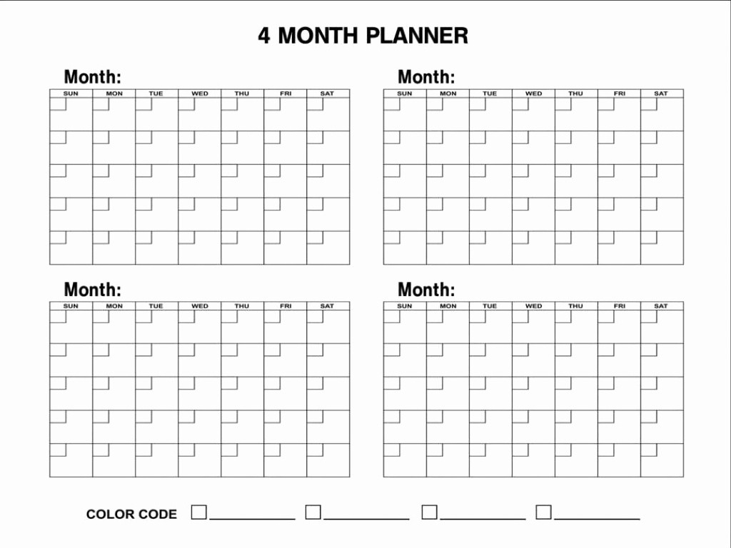 2019 Calendar 4 Months Per Page • Printable Blank Calendar  2020 Calendar Printable 3 Months Per Page