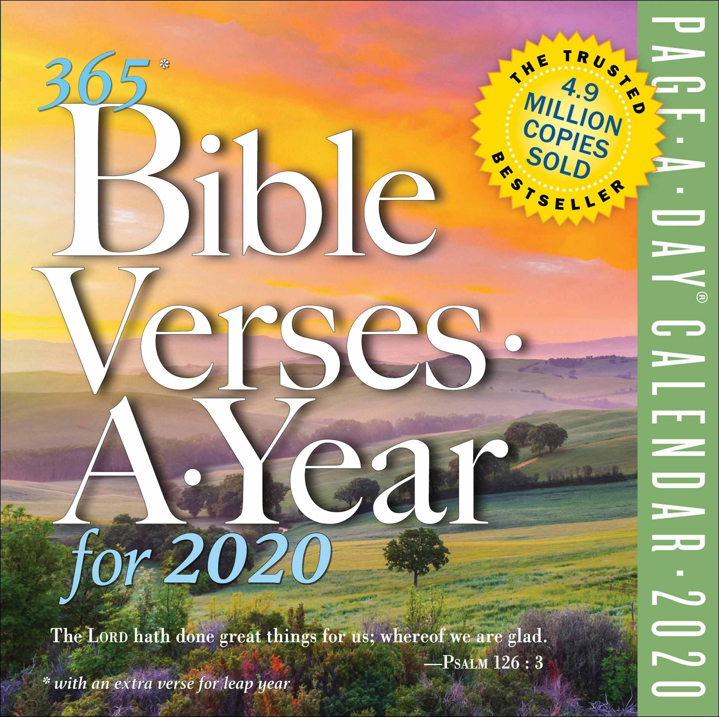 365 Bible Verses A Year Desk Calendar 2020  Advent Scriptures 2020
