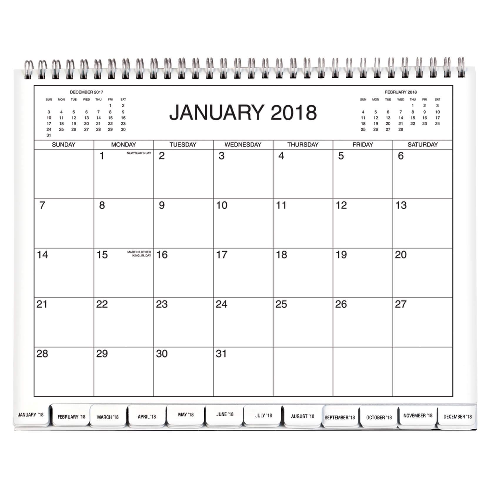 5 Year Calendar 2018-2019-2020-2021-2022 - Monthly Calendar  Calendar To Write On 2020