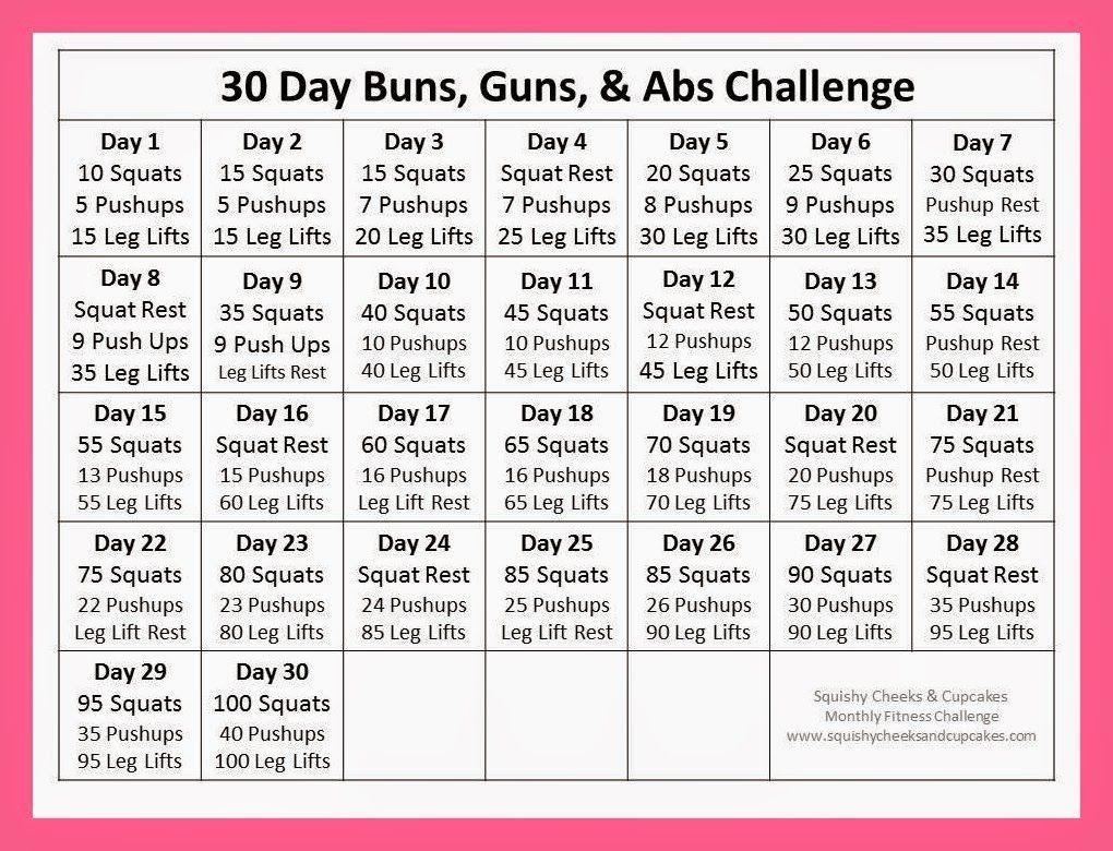 66 High Quality Printable 30 Day Ab Challenge  30 Day Fitness Challenge Printable
