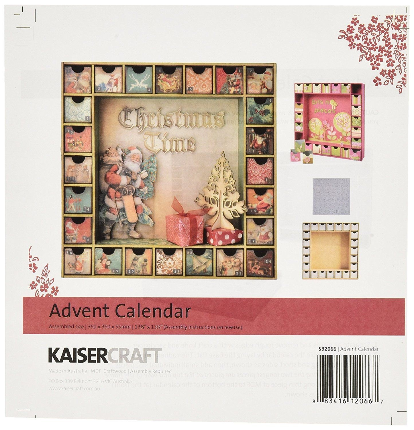 Amazon: Kaisercraft Beyond The Page Mdf Advent Calendar  Beyond The Page Mdf Advent Calendar