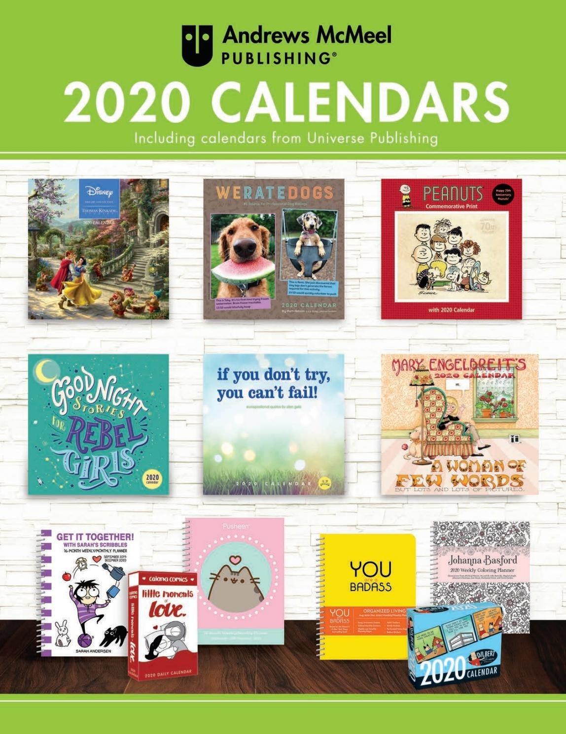 Andrews Mcmeel Publishing 2020 Calendar Catalogandrews  Ber 2020 Full Page Calendar