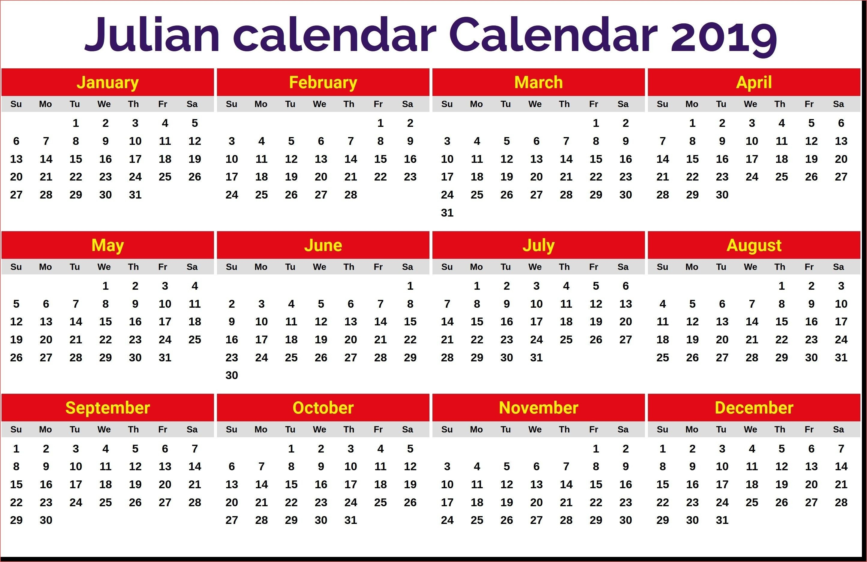 August Calendar 2019 Julian Date | Calendar Format Example  Julian Date For August 24
