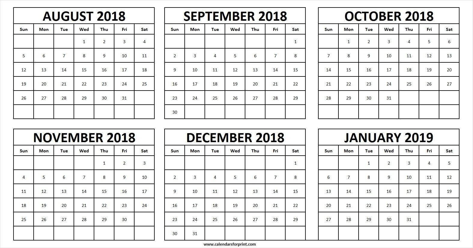 August December 2019 Calendar - Canas.bergdorfbib.co Inside  August - December
