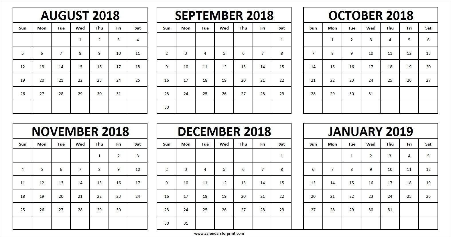 August December 2019 Calendar - Canas.bergdorfbib.co Inside  August To December Calendar