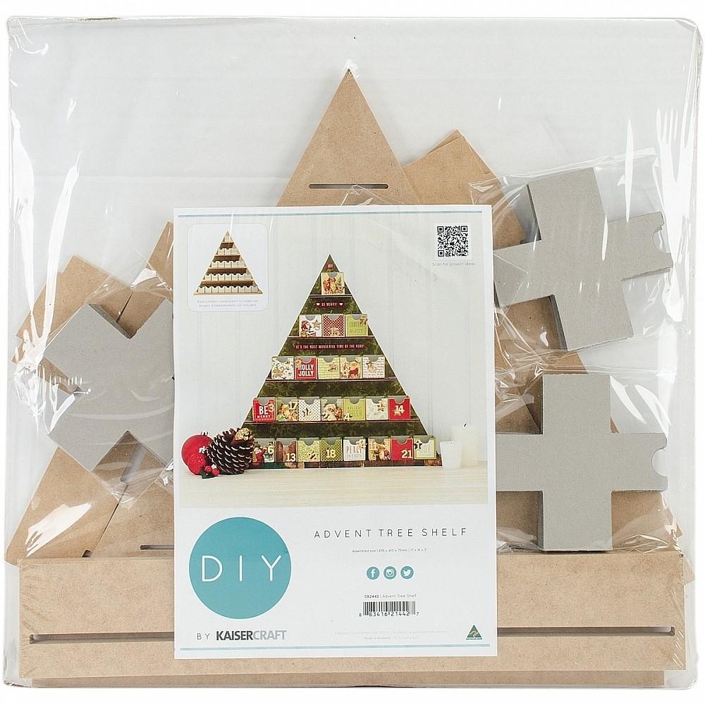 "Beyond The Page Mdf Shelf Tree Advent Calendar-17""""x16""""x3  Beyond The Page Mdf Advent Calendar"