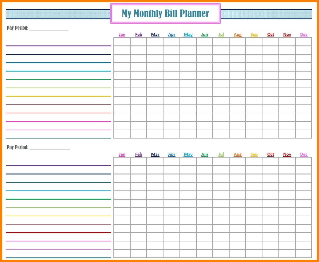 Bill Pay Spreadsheet Monthly Of Payments Calendar Editable  Fillable Monthly Bill Payment Worksheet