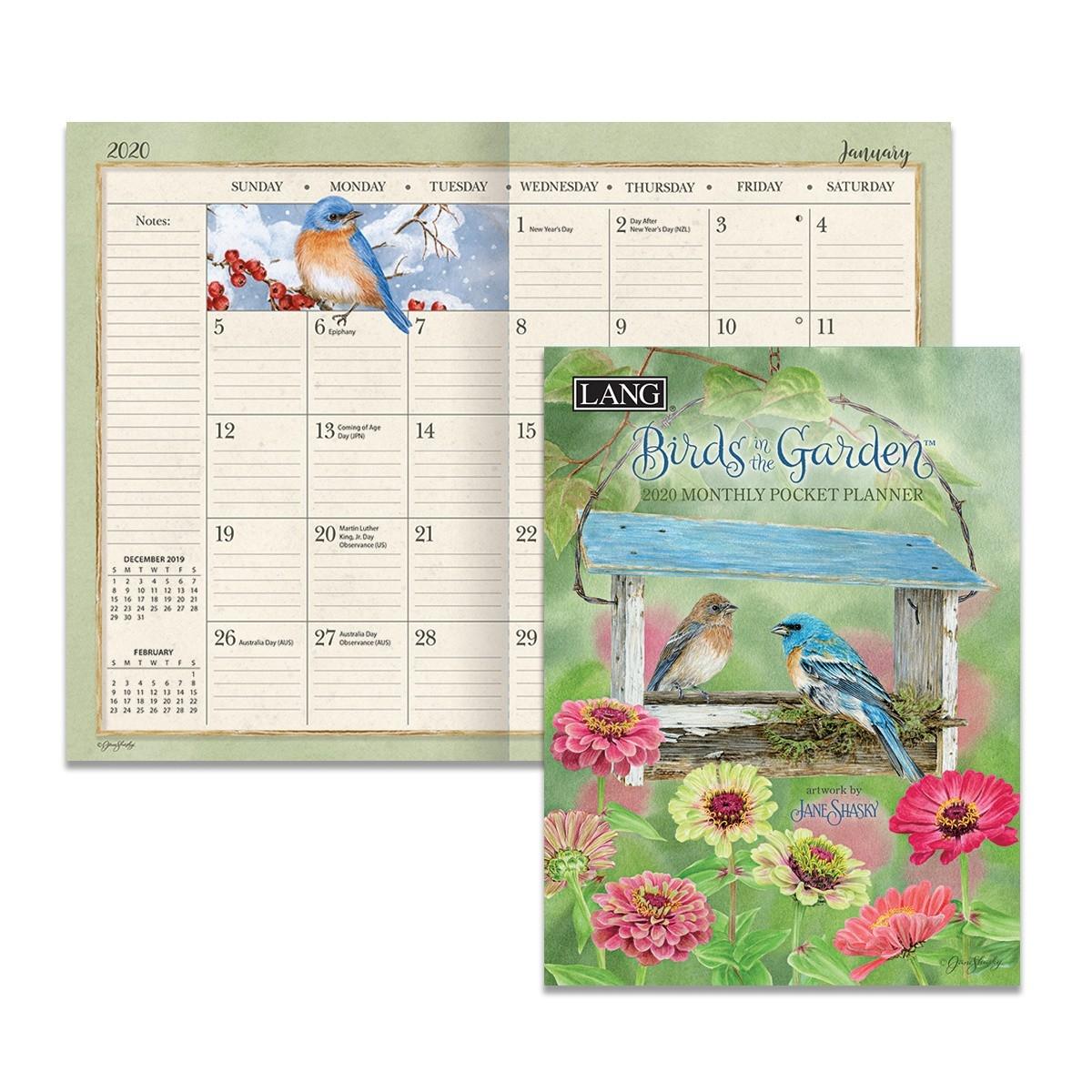 Birds In The Garden 2020 Monthly Pocket Planner  Monthly Pocket Planner 2020 2020