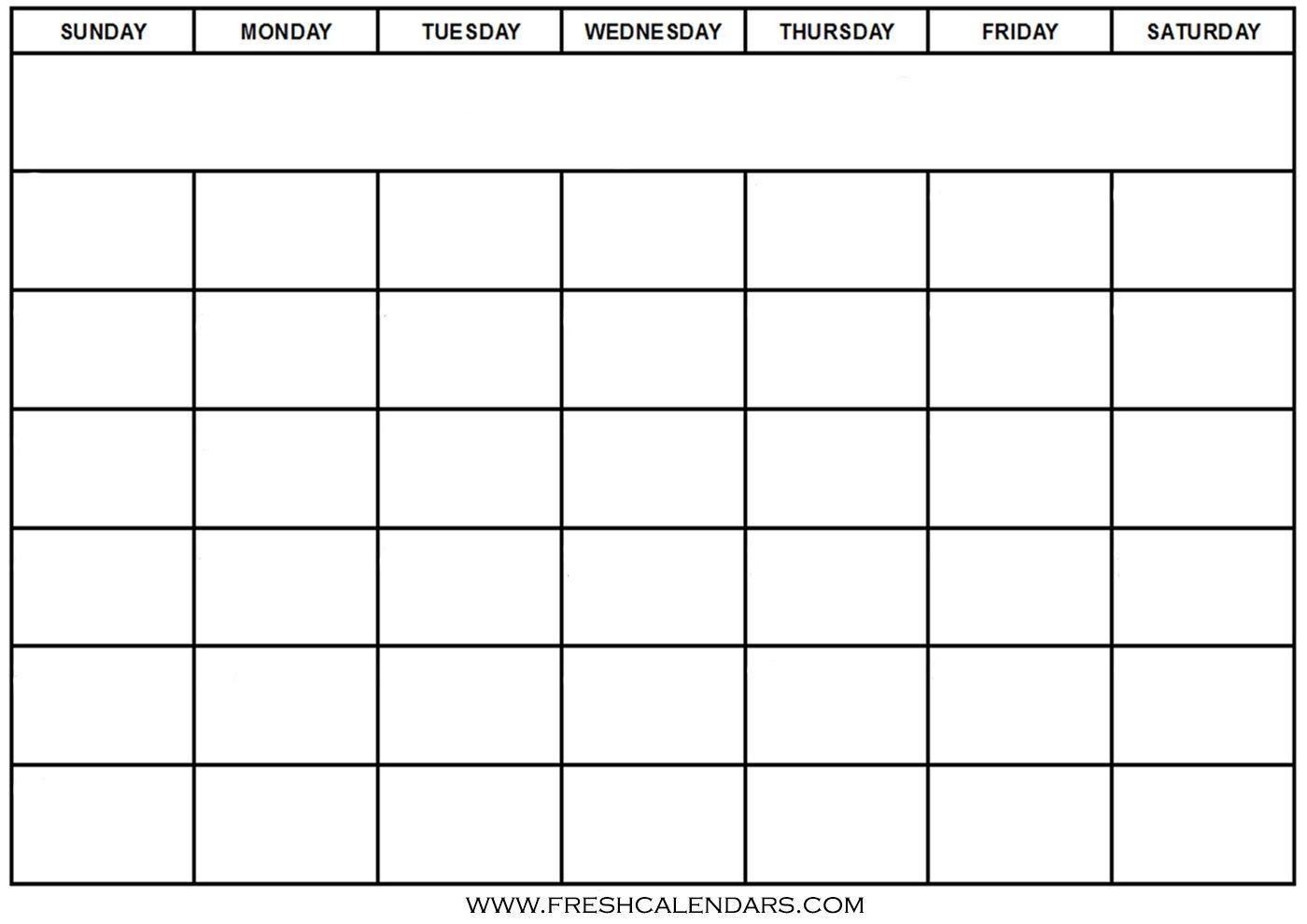 Blank Calendar: Wonderfully Printable 2019 Templates  Printable Fill In Calendar Temoplate