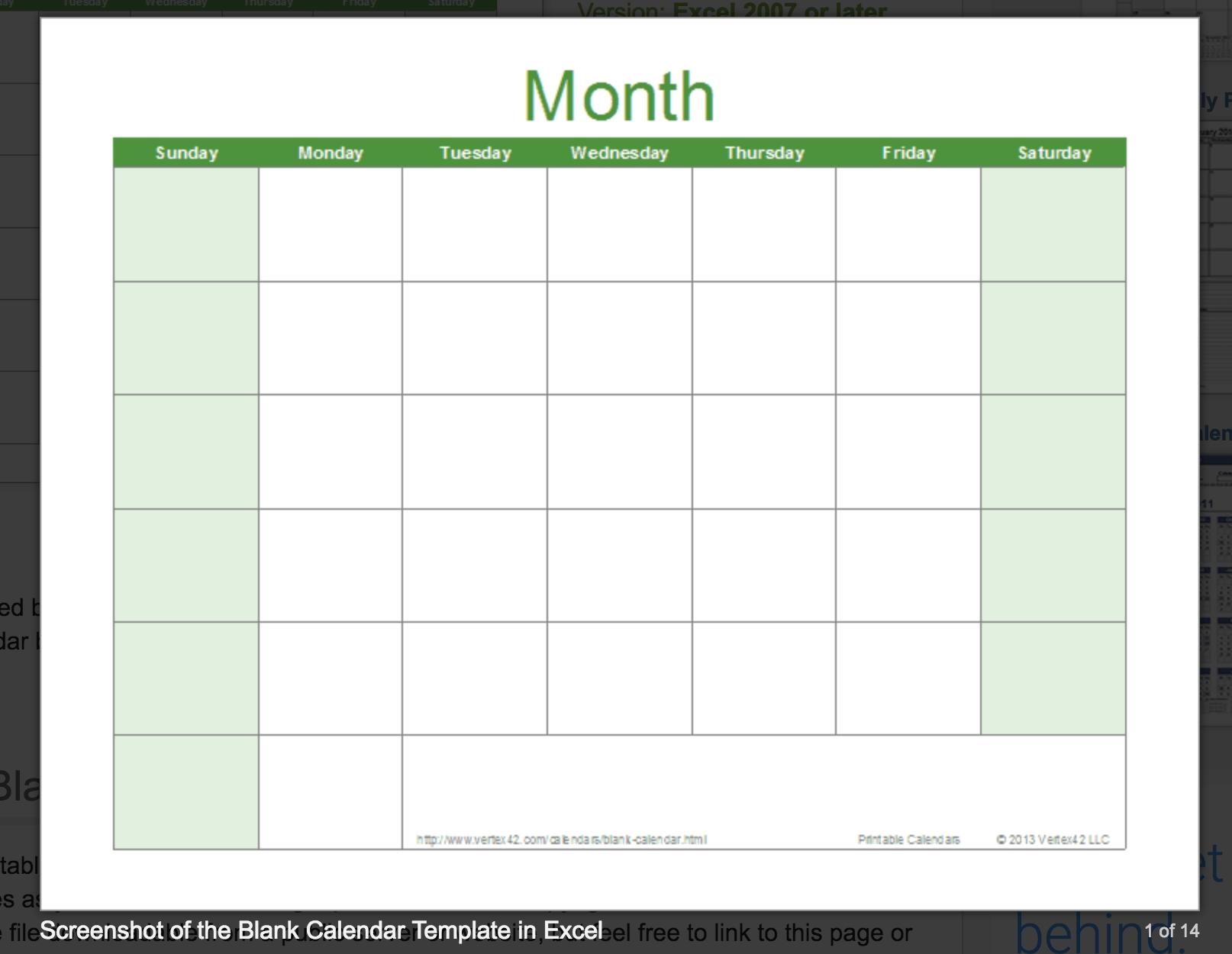 Blank Calendar: Wonderfully Printable 2019 Templates  Printable Full Page Monthly Calendar Blank