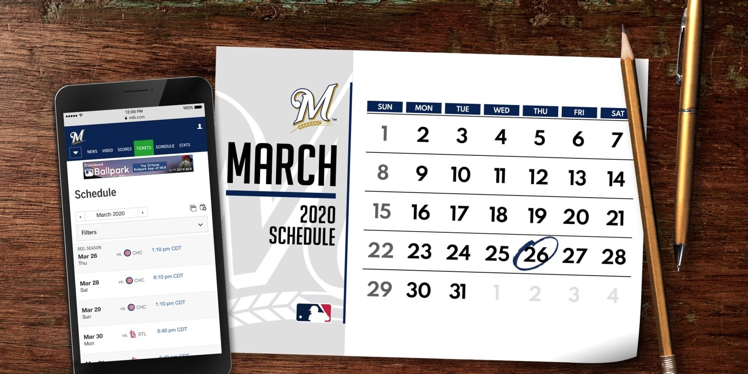 Brewers 2020 Regular Season Schedule | Mlb  Fire Shifts 2020 Free