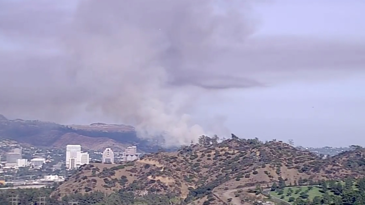 Brush Fire In The Eagle Rock Section Of Los Angeles  Fire Glendale August 2020
