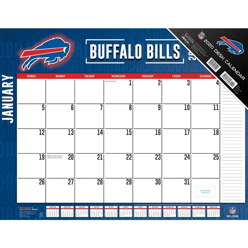Buffalo Bills 2020 Desk Pad  Bill Pay Calendar 2020