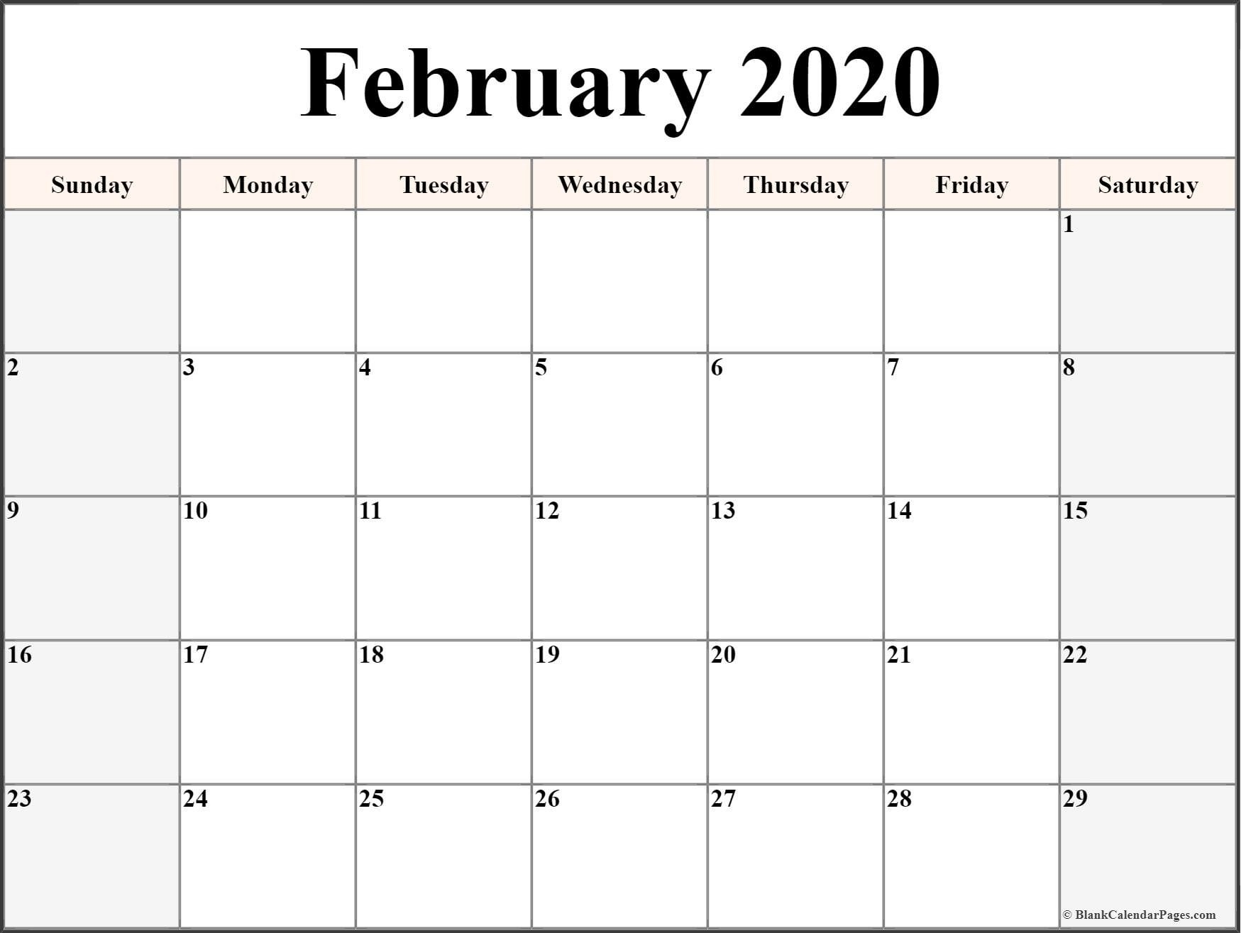 Calendar 2020 Canada Printable - February 2020 Calendar  Firefighter Calendar 2020 Printable