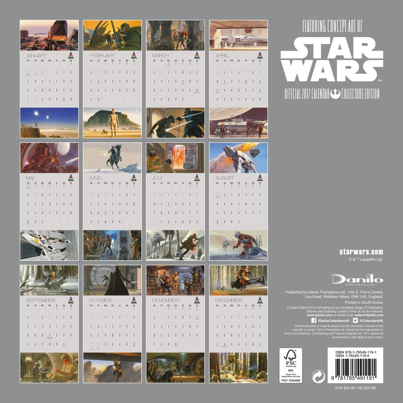 Calendar 2020 Star Wars  Calendario Star Wars 2020 Para Imprimir
