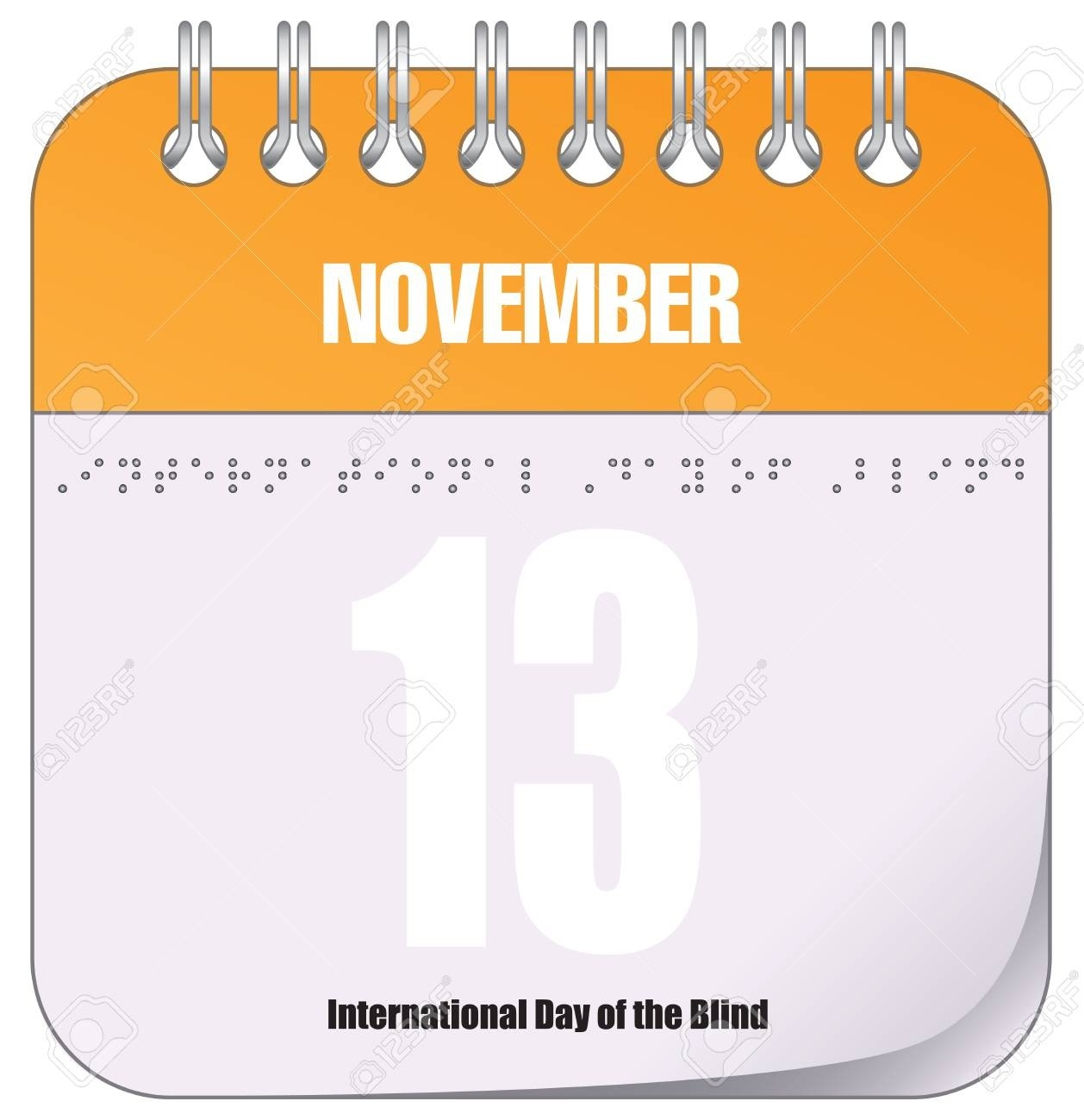 Calendar Event November 13 - International Day Of The Blind  Free Calendar For The Blind