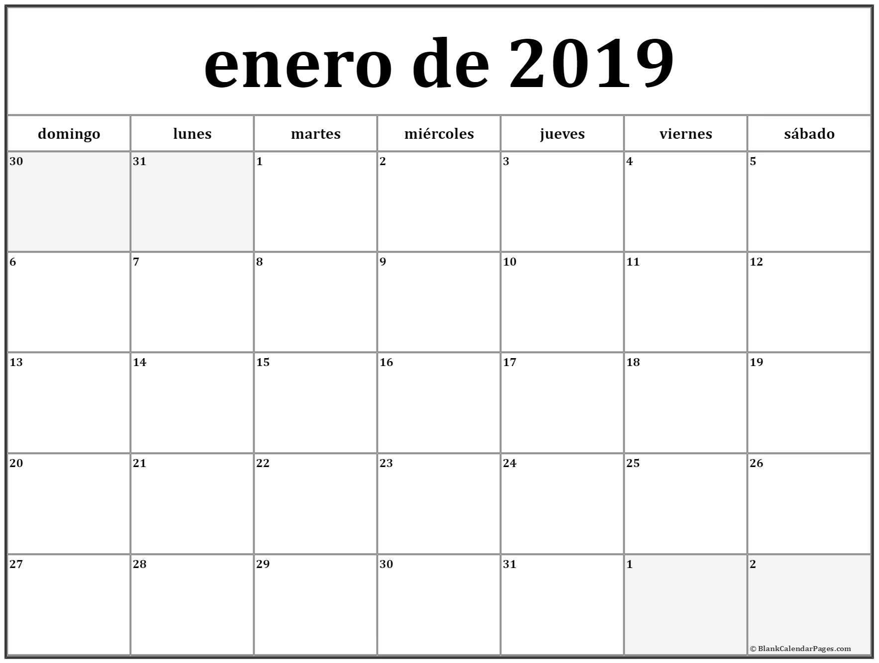 Calendario Escolar 2018-2019, Más De 100 Plantillas E  Calendario Para Imprimir Mes Por Mes 2020