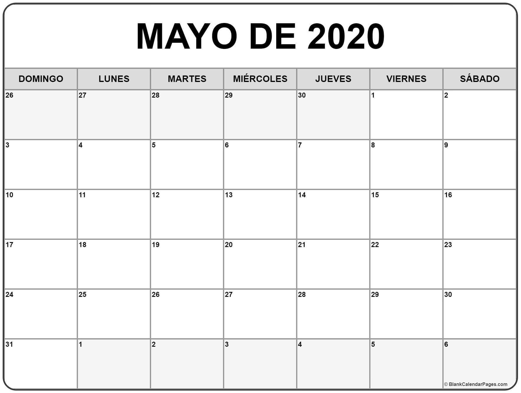 Calendarios Para Imprimir 2017 Por Meses Inspirational Mayo  Calendario Para Imprimir Mes Por Mes 2020