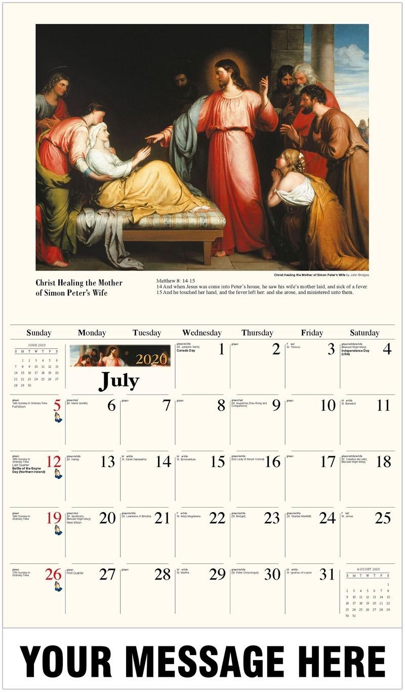 Catholic Inspiration  Liturgical Calendar 2020