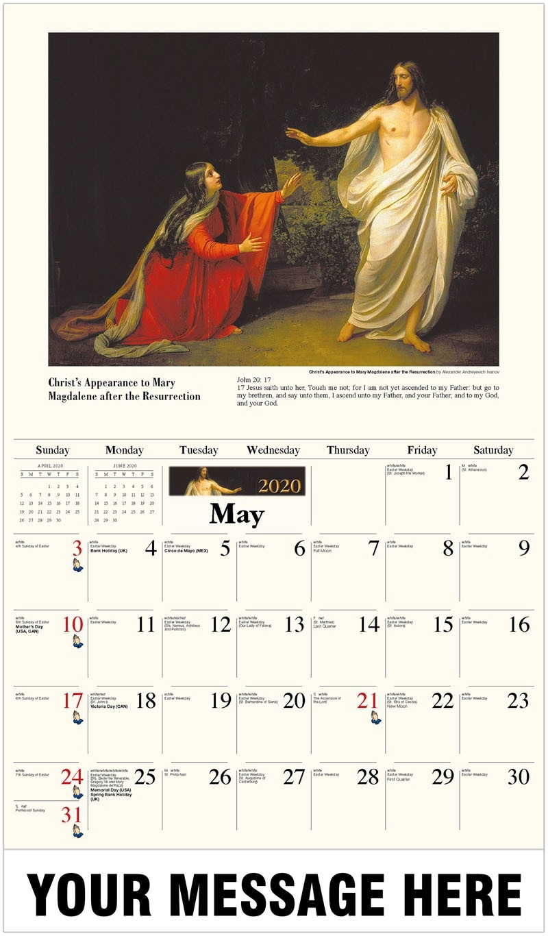 Catholic Inspiration  Liturgical Calendar 2020