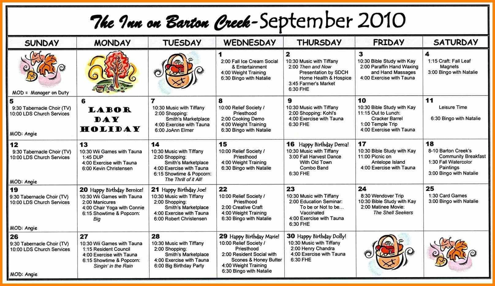 Church Calendar Template 7 - Fabulous-Florida-Keys  Church Calendar Template