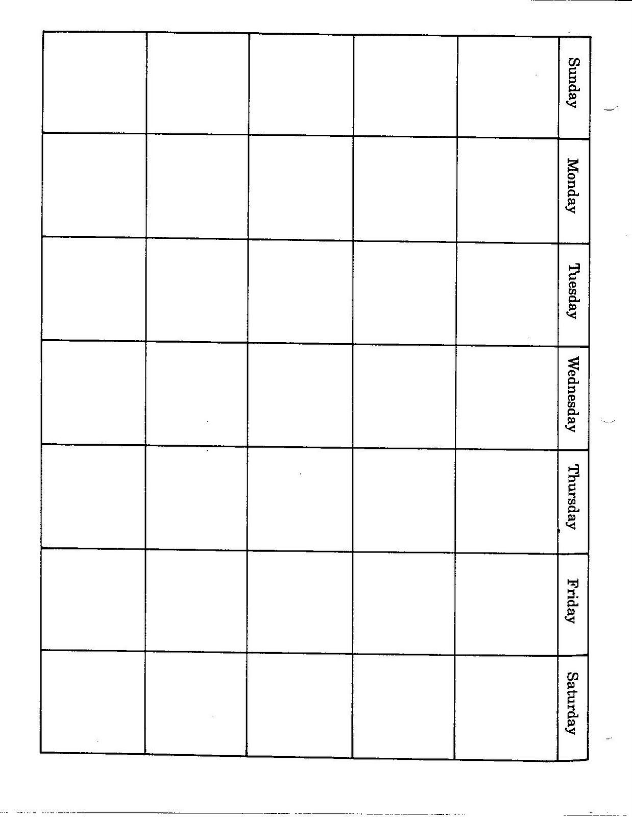 Connies File Cabinet Monthly Blank Calendar Pages For A Year  Full Page Calendar Template