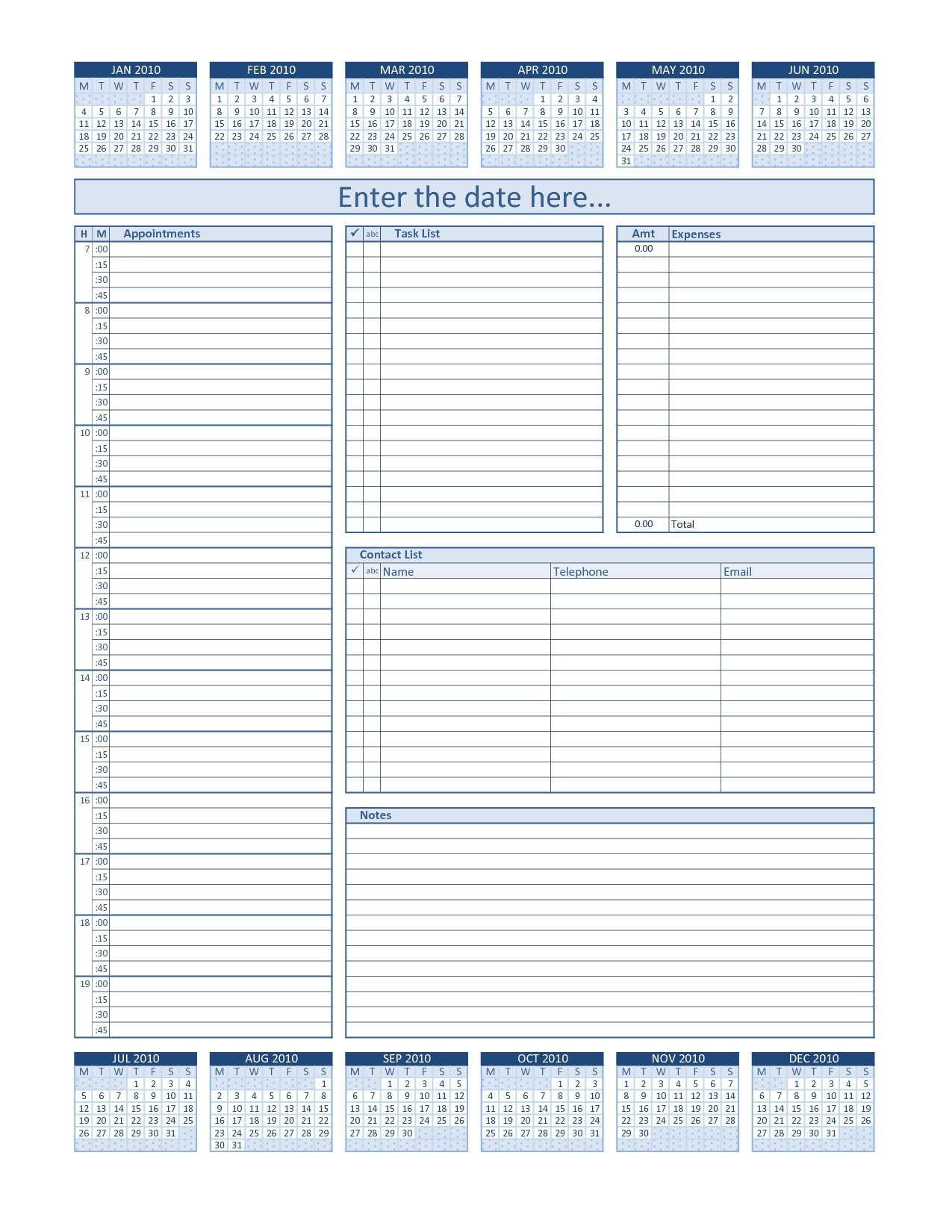 Daily Project Organizer Templates Free | Daily Planner For  26.catholic Daily Planner Template
