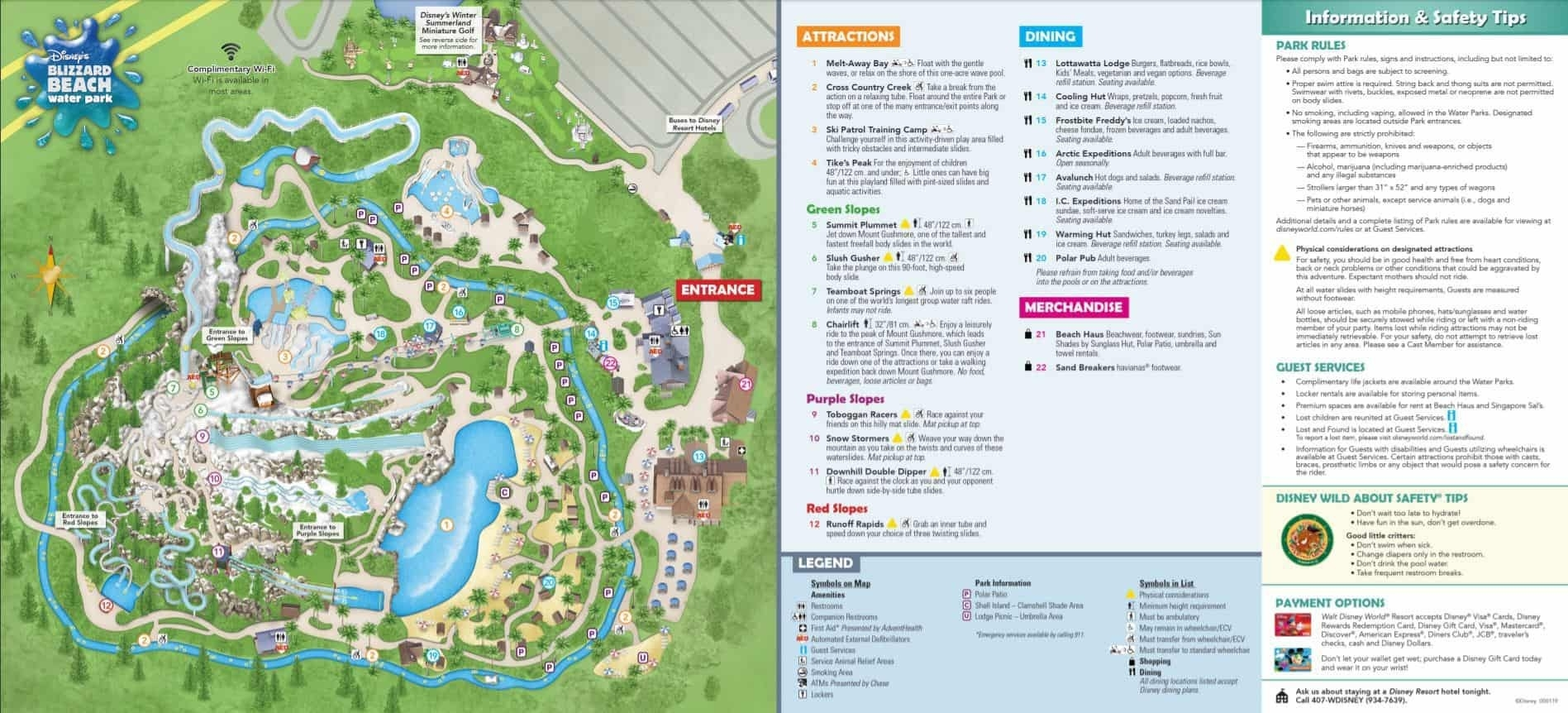 Disney World Maps - Download For The Parks, Resorts, Parties  Disney World Attractions Printable List 2020