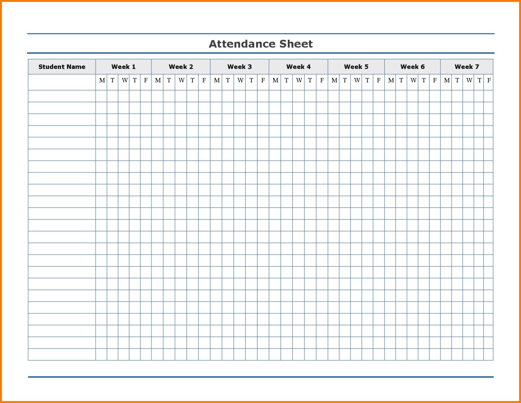 Employee Attendance Excel Sheet | Employee Attendance Sheet  Free Printable 2020 Employee Attendance Sheet