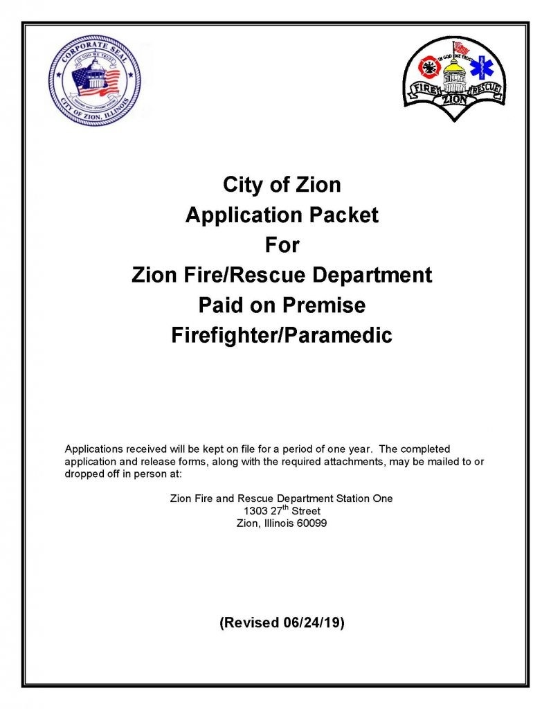 Fire Department Employment - City Of Zion  Il Fd Shift Schedule